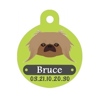 Médaille pour chien Pékinois personnalisée avec nom, numéro de téléphone