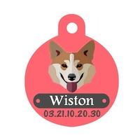 Médaille pour chien Welsh corgi personnalisée avec nom, numéro de téléphone