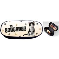 Trousse à crayons Chat chaton cat personnalisée avec prénom