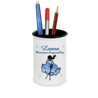 Pot à crayons Princesse d'aujourd'hui personnalisé avec prénom