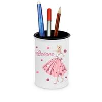 Pot à crayons Miss Glamour personnalisé avec prénom