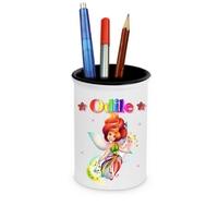 Pot à crayons Fée Multicolore personnalisé avec prénom