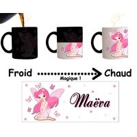 Mug tasse magique Fée Fairy personnalisé avec prénom