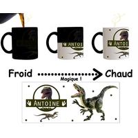 Mug tasse magique Dinosaure personnalisé avec prénom