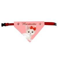 Collier pour chat bandana personnalisé avec le nom de votre animal