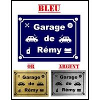Plaque Garage mécanique personnalisée avec prénom