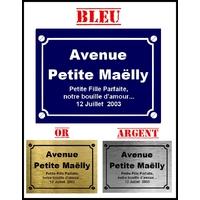Plaque de rue Bébé naissance personnalisée avec prénom