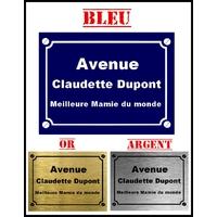 Plaque de rue Meilleure mamie du monde personnalisée avec prénom