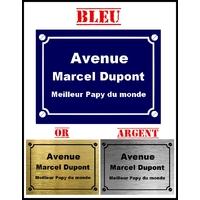 Plaque de rue Meilleur papy du monde personnalisée avec prénom