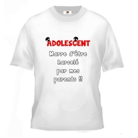 Tee shirt pour Adolescente Humour Marre d' être harcelée par mes parents