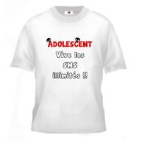 Tee shirt pour Adolescent Humour Vive les SMS illimités