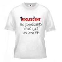 Tee shirt pour Adolescent Humour La ponctualité c'est quoi ce truc ??