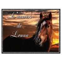 Plaque de porte en aluminium Cheval chevaux personnalisée avec texte au choix