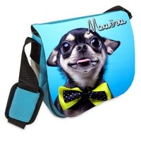 Sac bandoulière Chihuahua personnalisé avec prenom