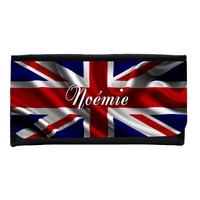 Portefeuille femme en simili cuir Anglais personnalisé avec prénom
