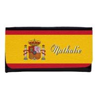 Portefeuille femme en simili cuir Espagne personnalisé avec prénom