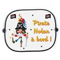 Pare soleil voiture Pirate personnalisé avec prénom