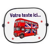 Pare soleil voiture Anglais Bus londonien personnalisé avec votre texte