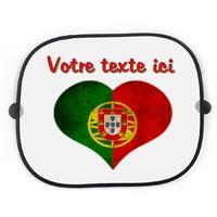 Pare soleil voiture Portugal personnalisé avec votre texte