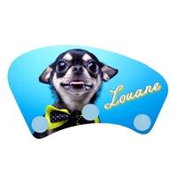 Porte manteau Chihuahua personnalisé avec prénom