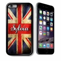 Coque iphone 4/4S, 5/5S, 6, 7, 8, X, XS, XR ou SE Anglais personnalisée avec prénom