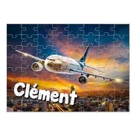 Puzzle Avion personnalisé avec prénom 35,70 ou 96 pièces