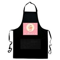 Tablier de cuisine noir Cupcake Pâtisserie personnalisé avec prénom