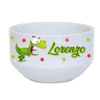Bol à petit déjeuner Dino rigolo Dinosaure personnalisé avec prénom au choix