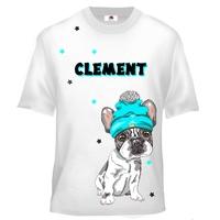 Tee shirt enfant Chiot Bouledogue français personnalisé avec prénom