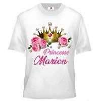 Tee shirt enfant Princesse personnalisé avec prénom