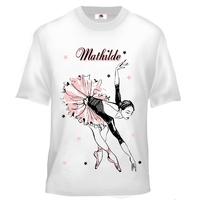 Tee shirt enfant Danse classique Danseuse personnalisé avec prénom