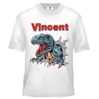 Tee shirt enfant Dinosaure personnalisé avec prénom