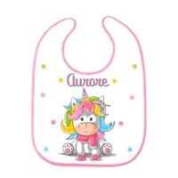 Bavoir bébé Licorne personnalisé avec prénom