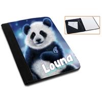 Pochette Porte bloc-notes Panda personnalisé avec prénom