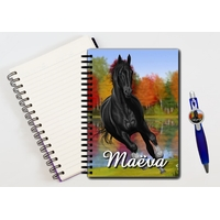 Cahier à spirales Cheval personnalisé avec le stylo assorti