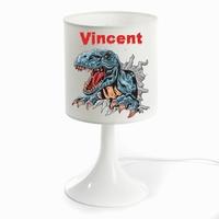 Lampe de chevet Dinosaure personnalisée avec prénom