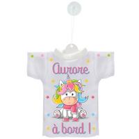 Mini tee shirt voiture Bébé à bord Licorne personnalisé avec prénom