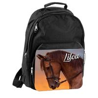 Sac à dos cartable cheval chevaux personnalisé avec prénom
