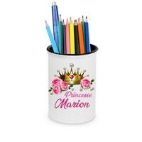 Pot à crayons Princesse personnalisé avec prénom