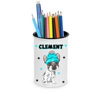 Pot à crayons Bébé Bouledogue français personnalisé avec prénom