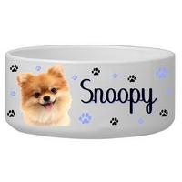 Gamelle pour chien Loulou de poméranie personnalisée avec le nom de votre animal