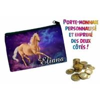 Porte monnaie Cheval personnalisé avec prénom au choix