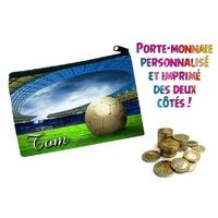 Porte monnaie Football personnalisé avec prénom au choix