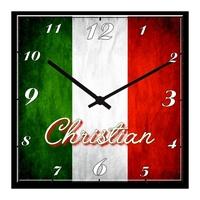 Pendule murale Italie personnalisée avec prénom