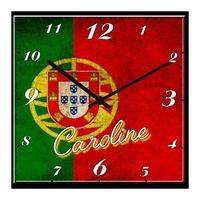 Pendule murale Portugal personnalisée avec prénom