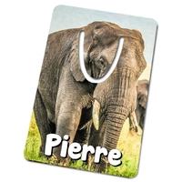 Marque-page Eléphant personnalisé avec prénom