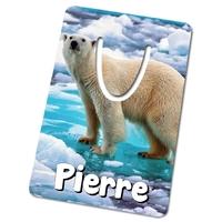 Marque-page Ours blanc personnalisé avec prénom