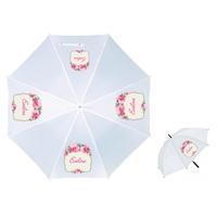 Parapluie Adulte Fleurs personnalisé avec prénom