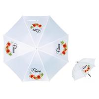 Parapluie Adulte Fleurs Coquelicots  personnalisé avec prénom