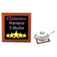 Dessous de plat Marraine 5 étoiles personnalisé avec prénom